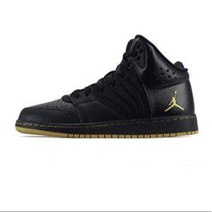 low priced 3a5aa dba15 ... Nike Shoes - Nike Air Jordan 1 Flight 4 black gold high tops 23 ...